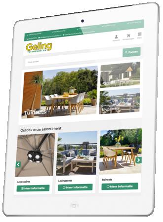Responsive Geling tuinmeubelen webshop