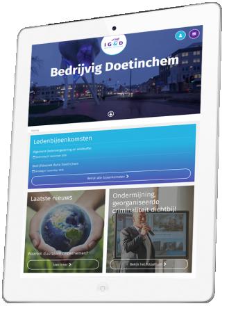IG&D Doetinchem voorbeeld op iPad