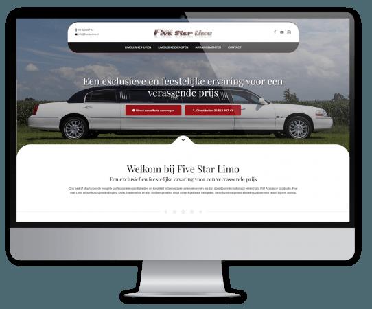 Website Five Star Limo