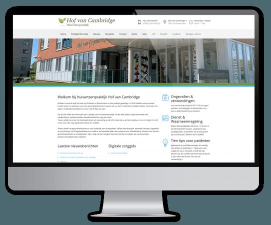 Website Huisartsenpraktijk Hof van Cambridge