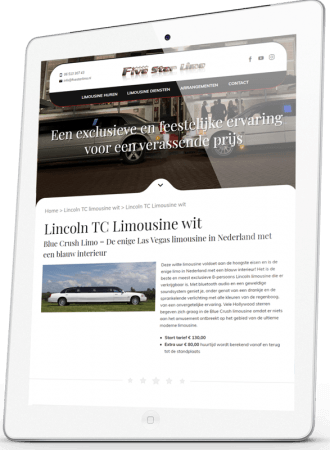 Five Star Limo responsive website