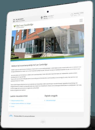 Responsive Huisartsenpraktijk Hof van Cambridge