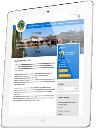 Lions Club Doetinchem presentatie op iPad
