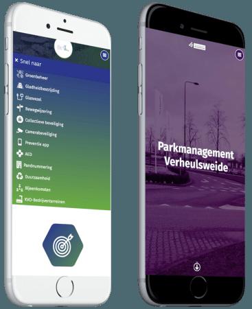Parkmanagement Verheulsweide website op mobiel